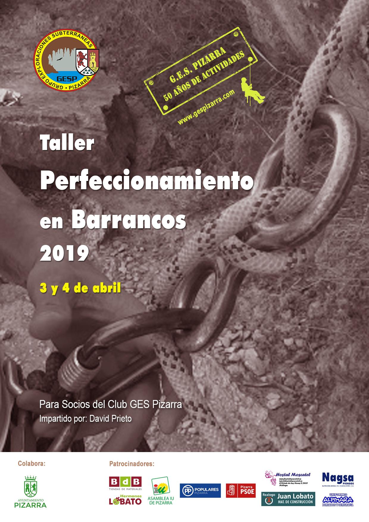 Cartel Taller Perfeccionamiento Barrancos Abril2019